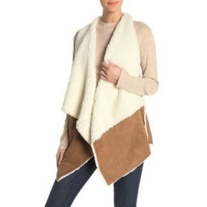 NWT Melrose and Market Faux Shearling Drape Vest